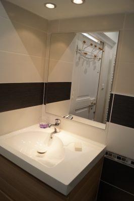 Location Mont-Dore - vue de la salle de bain